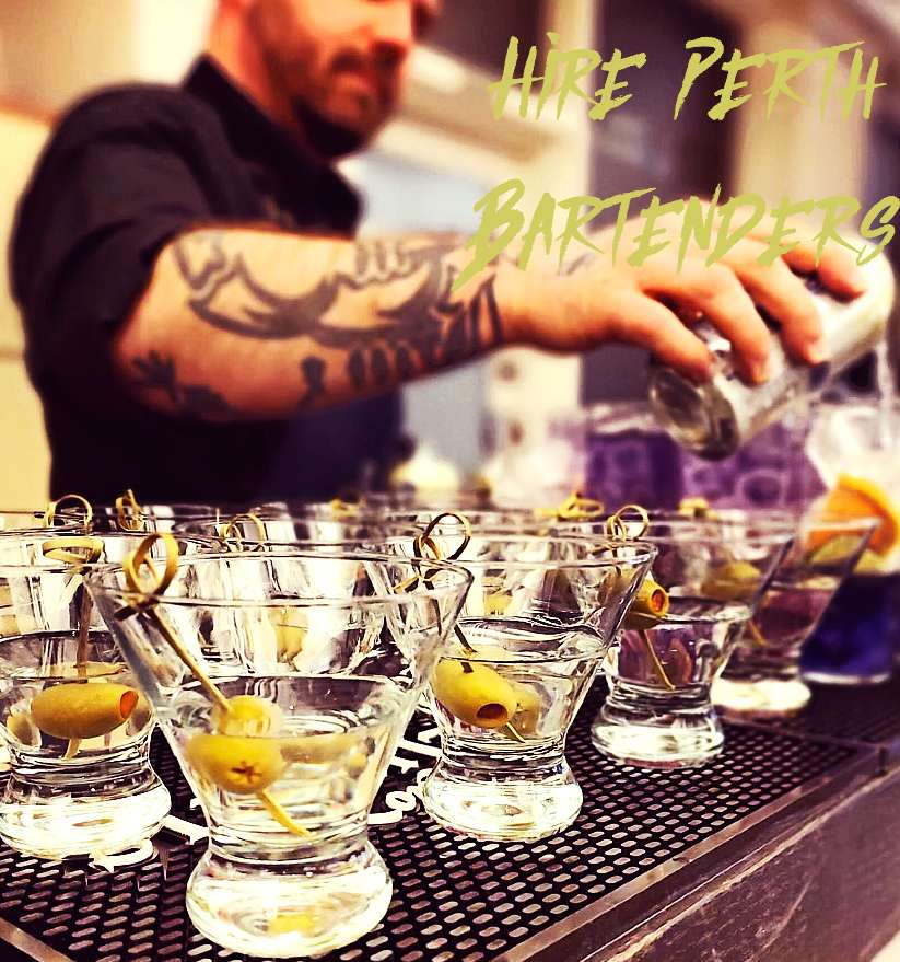 hire cocktail bartenders Perth